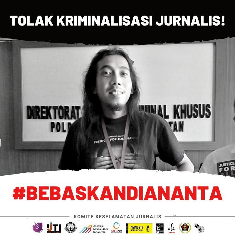 Komite Keselamatan Jurnalis Desak Polda Kalsel Bebaskan Eks Pemred Banjarhits