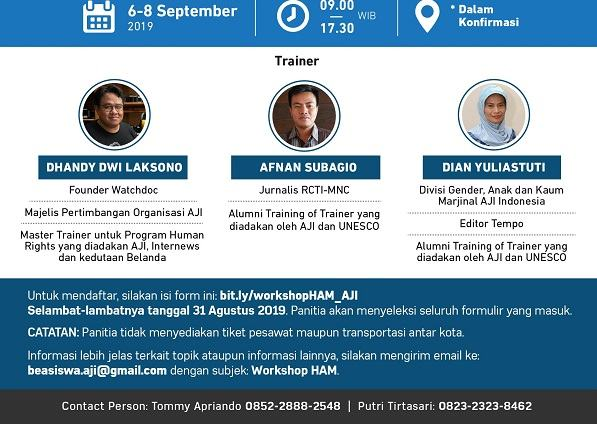 Buka Lowongan: Pelatihan Meliput isu HAM di Yogyakarta