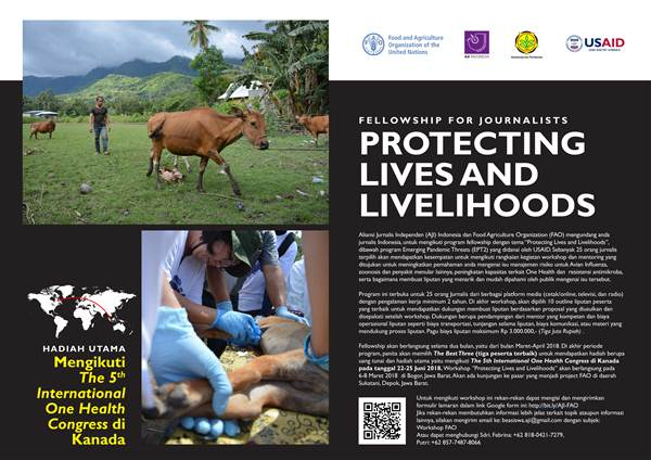 "FELLOWSHIP FOR JOURNALISTS  ""PROTECTING LIVES AND LIVELIHOODS"""
