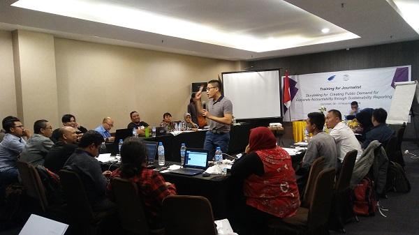 Dok. AJI Indonesia/Pelatihan GRI-SJAJI di Gorontalo, Jumat (09/11).