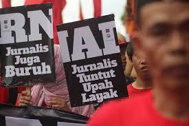Demonstrasi di hari buruh