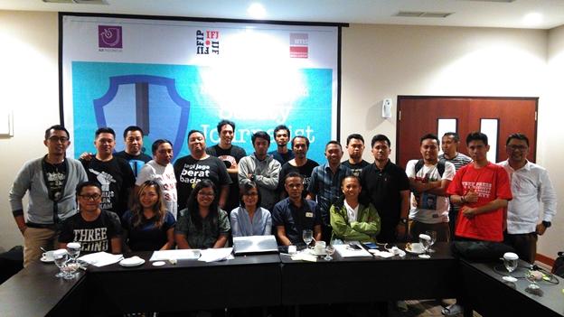 Workshop Safety of Journalist di Manado ajak Jurnalis Bangun Jaringan Advokasi