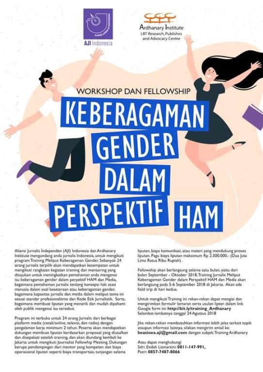 Workshop dan Fellowship Keberagaman Gender dalam Perspektif HAM