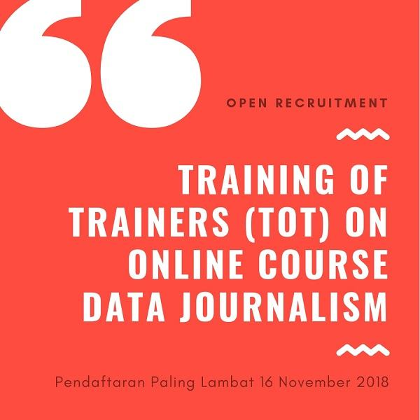 Open Recruitment  Training of Trainers (TOT) on Online Course Data Journalism
