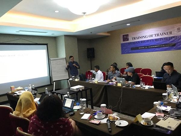Dok AJI Indonesia/ToT Human Rights Reporting