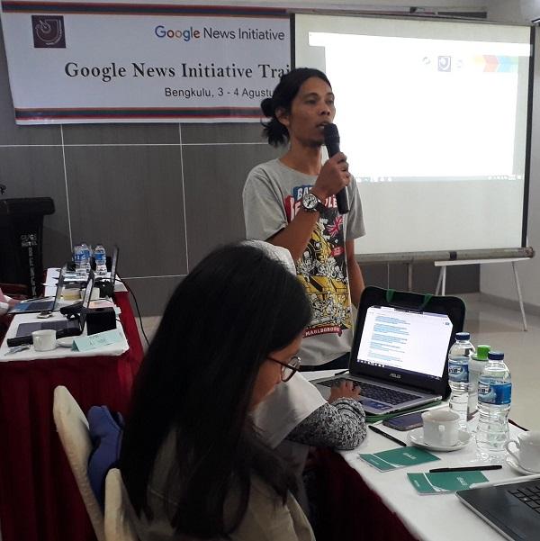 Puluhan Jurnalis Bengkulu Berlatih Cek Fakta bersama Google