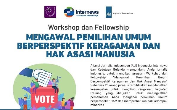 Workshop dan Fellowship Meliput Pemilu Berperspektif Keragaman dan HAM