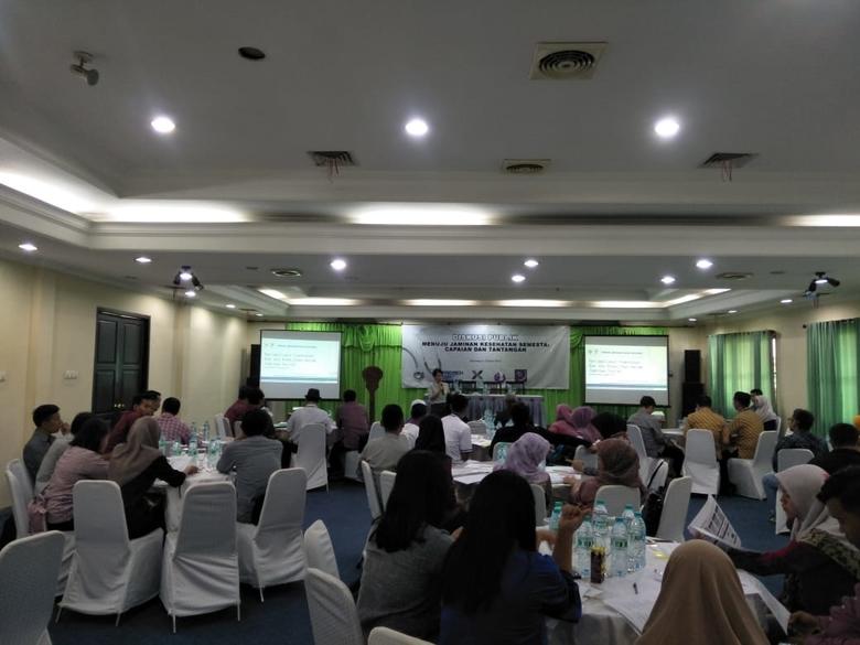 Diskusi soal jaminan kesehatan di Bojonegoro, 23 April 2019.